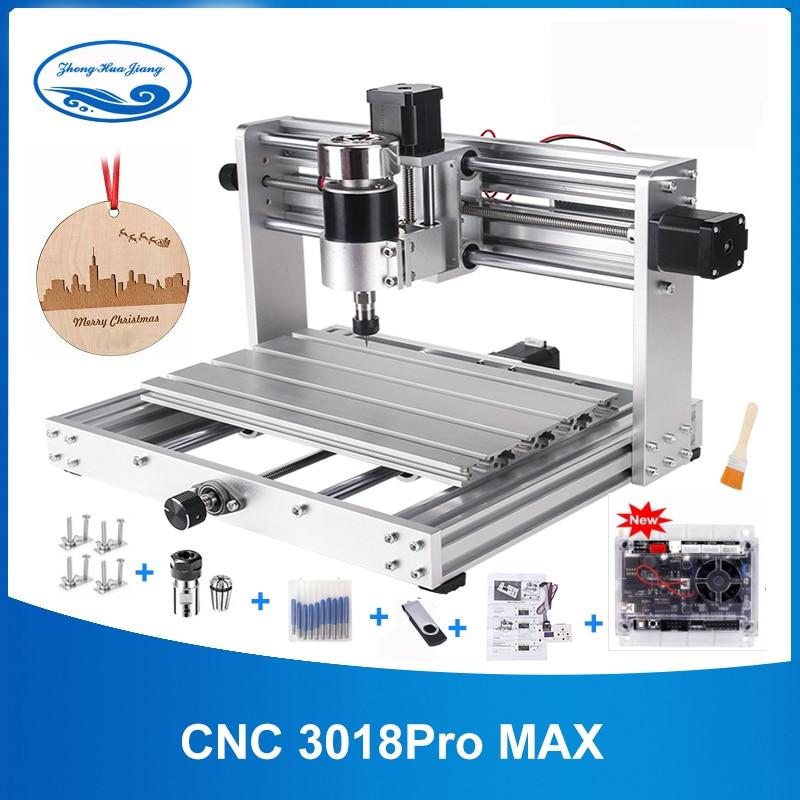 CNC 3018 Pro Макс гравер с 200 Вт шпиндель, 15 Вт большой мощности лазерная гравировка 3 оси pcb фрезерный станок с ER11 DIY древесины маршрутизатор