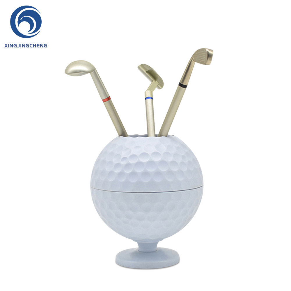 Novelty Mini Golf Ball Pen Pencil Holder Desktop Accessories Decoration Golf Gift For Dedicated Golfer With 3 Color Pens|Golf Training Aids| |  - title=
