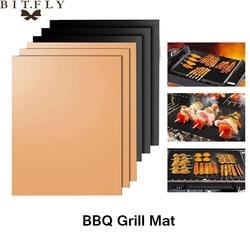 1 pièces Barbecue gril tapis Barbecue cuisson en plein air tampon antiadhésif réutilisable plaque de cuisson pour partie PTFE Grill MFE gril tapis outils de cuisson