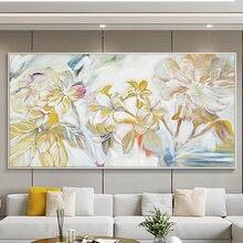 100% ручная роспись абстрактный цветок картина маслом на холсте