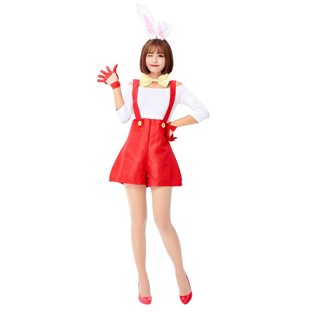 <font><b>Cosplay</b></font> <font><b>Sexy</b></font> <font><b>Cute</b></font> Bunny Rabbit Girl Uniform Adult <font><b>Sexy</b></font> Game Uniform Halloween Carnival purim Party Costume for women Fancy Dress image