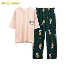 Plus Size Women Pajamas Set Spring New Pajamas