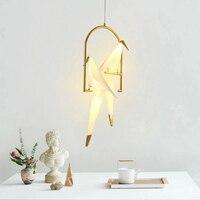 Nordic Gold pendent lichter lampe Kreative Papier für wohnzimmer Schlafzimmer Flur Nacht origami licht home interior dekoration-in Pendelleuchten aus Licht & Beleuchtung bei