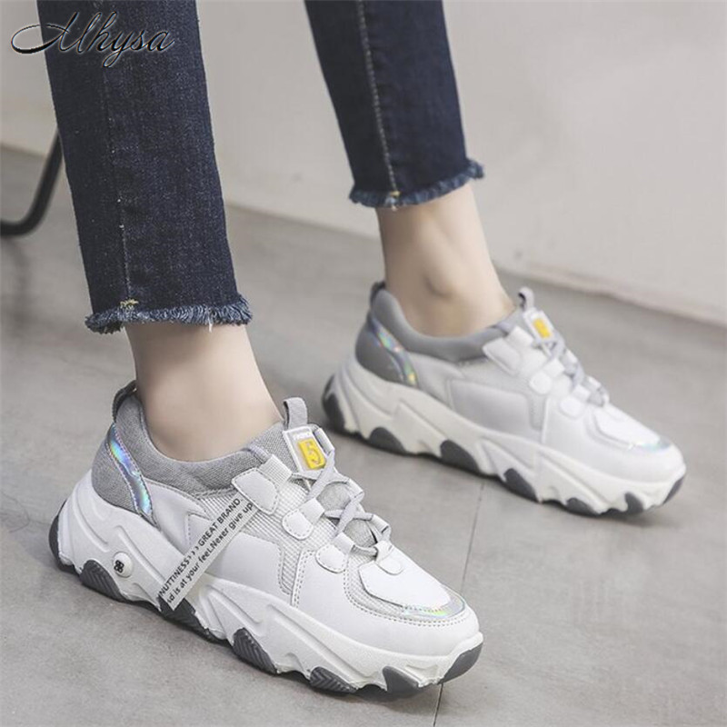 Mhysa 2020 Spring Chunky Sneakers Women Fashion Platform Shoes Basket Femme Vulcanize Shoes Women Casual shoes chaussures femme