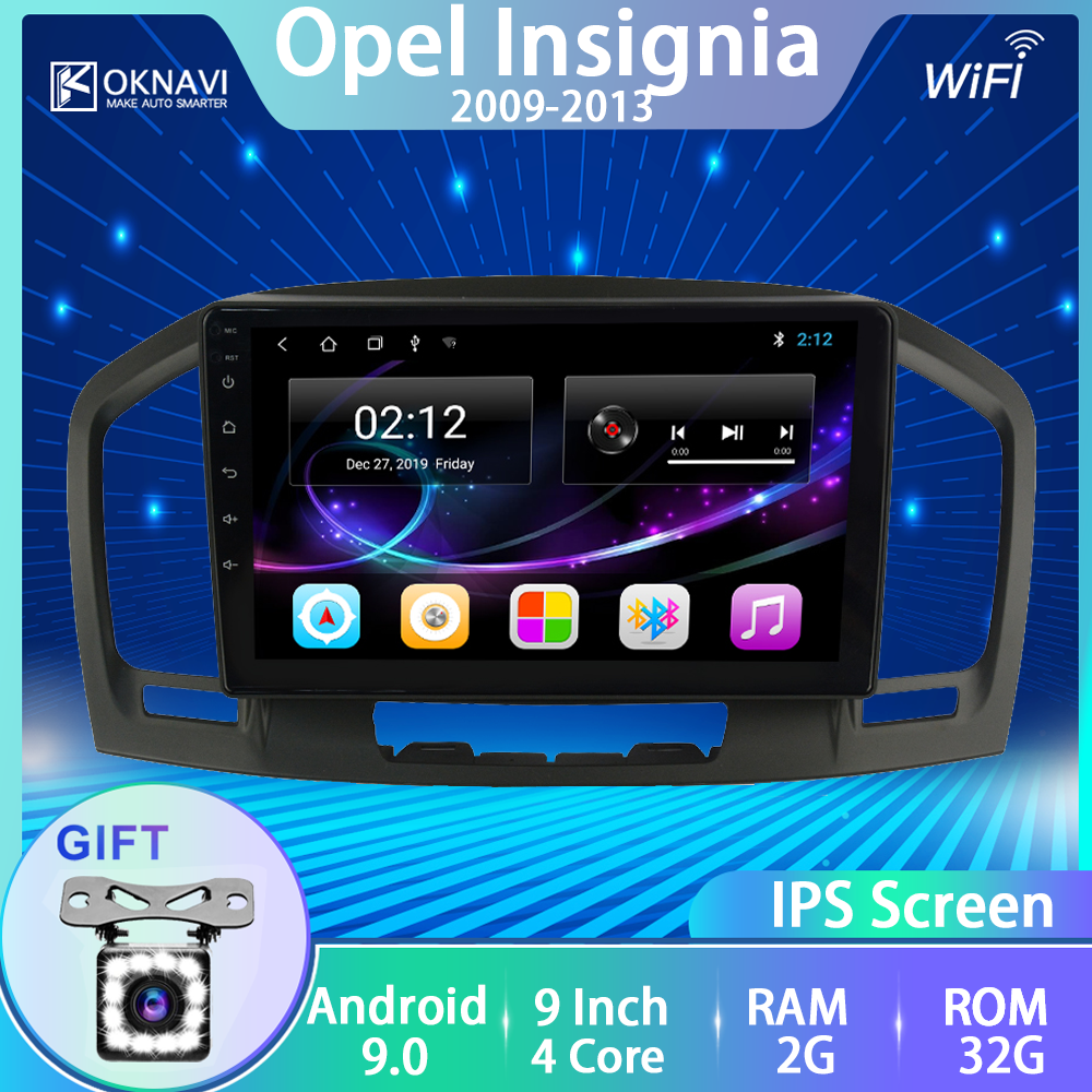 OKNAVI Car Multimedia Video Player Android 9.0 Per Buick Regal Per Opel Insignia 2009 2010 2012 2013 della Radio di Navigazione GPS no DVD