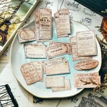 22 unidades/pacote etiqueta do bilhete inglês do vintage etiqueta diy artesanato scrapbooking álbum lixo diário planejador adesivos decorativos