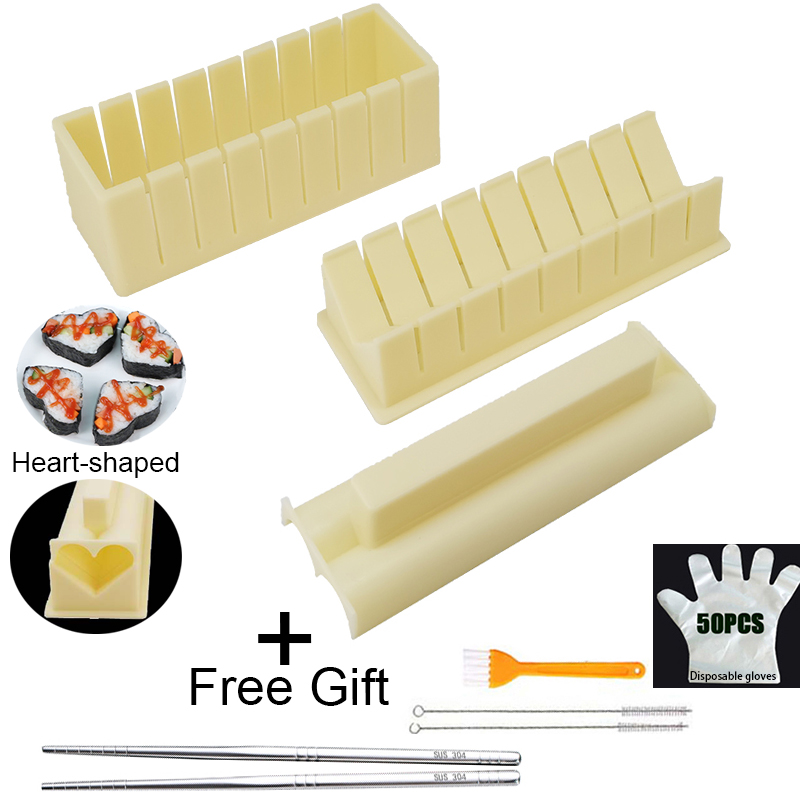 Sushi Maker Rice Mold High Quality Japanese Rice Ball Cake Roll Mold Multifunctional Mould Making Sushi Tools