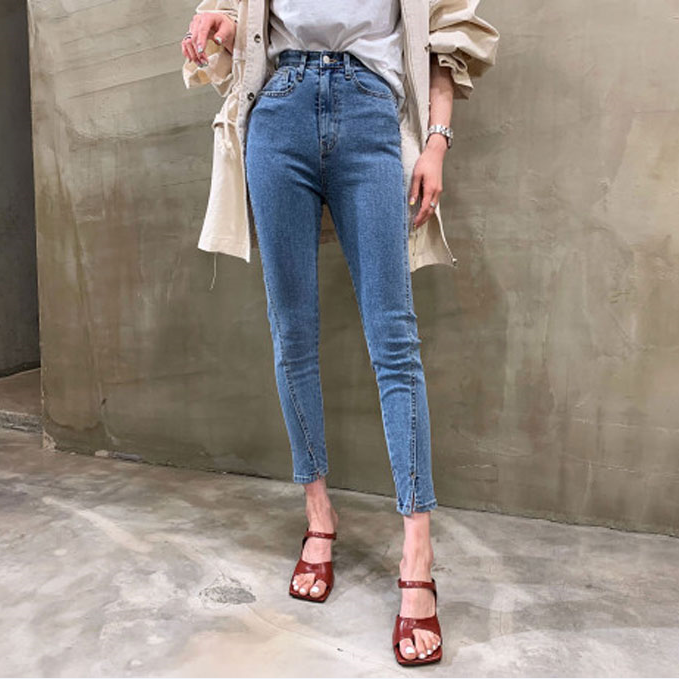 2020 Summer Slim Jeans For Women Skinny High Waist Jeans Woman Blue Denim Pencil Pants Stretch Women Jeans Pants