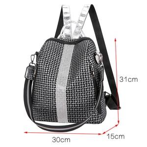 Image 2 - Multifunction Women Backpacks Shoulder Bags Fashion Summer Backpack Leather Women Backpacks Light Lady Large Capacity School Bag