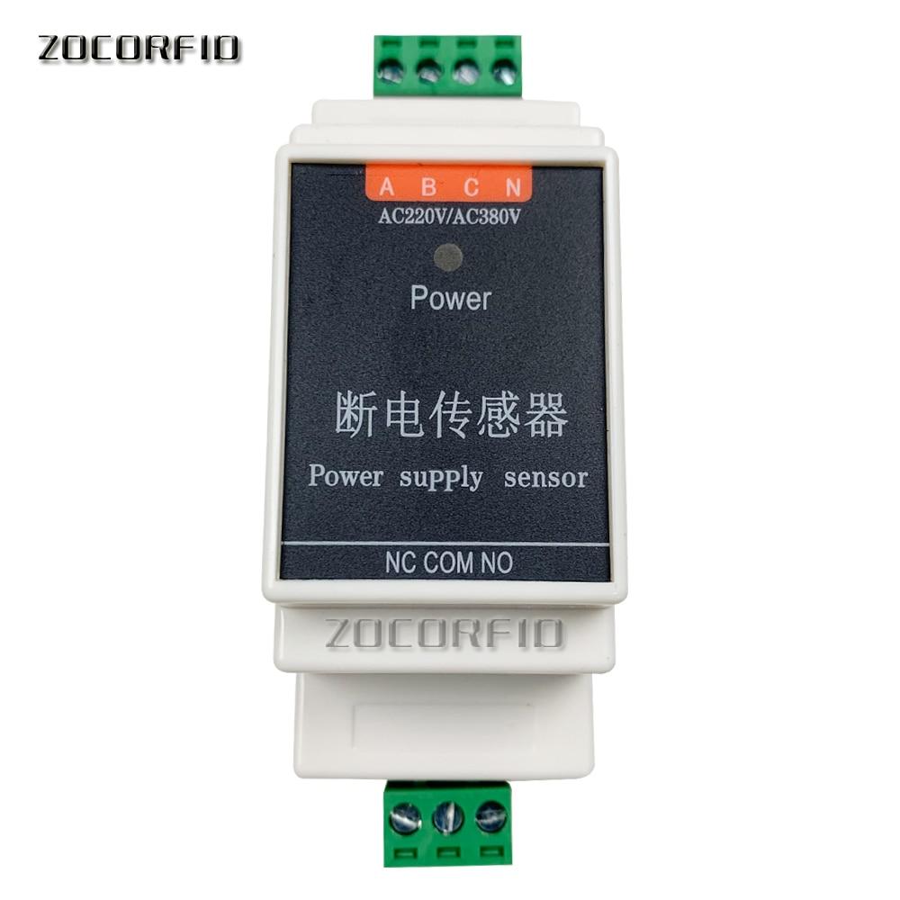 Wired Power Failure Alarm Sensor Detector AC 220v/380v Three-phase For Kc868 Smart Home Control System Mobile App Message