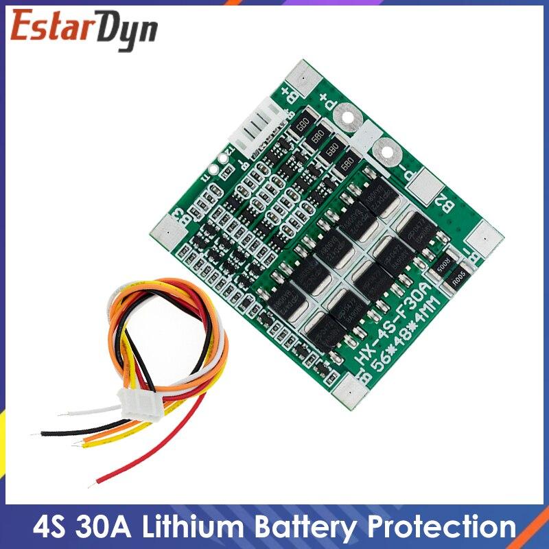 4S 30A 14,8 в литий-ионная батарея 18650 BMS пакеты Щит защиты печатной платы баланс интегральных схем 48x56 мм электронная плата