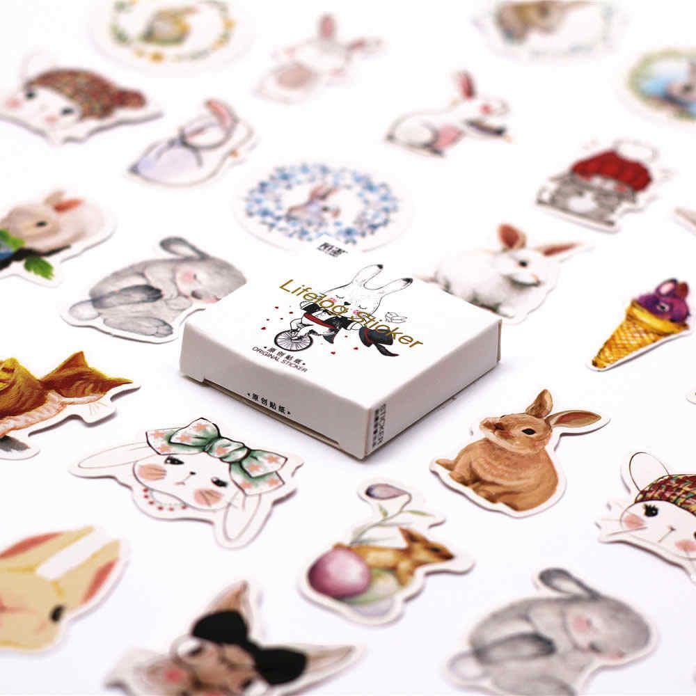45 個イースターバニーウサギのステッカーパックかわいいプランナー粘着文房具アブラソコムツ学校 Supplies2017