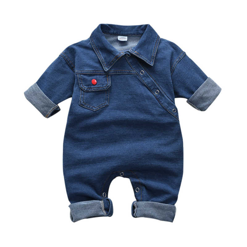 0-4T Newborn Toddler Kids Baby Girl Boy Clothes long Sleeve Denim Romper Fashion Cute Jumpsuits new born Sweet Outfits