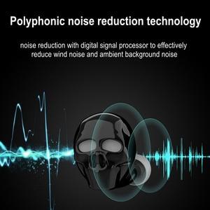 Image 5 - HUAIOU Skull Bone Bluetooth Earphone with Microphone Noise Cancelling Hi Fi Handsfree Bass Stereo Mini Micro Earbud Earpiece