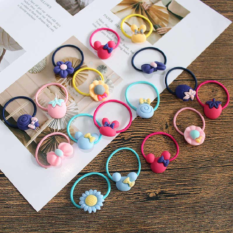 10 Pcs Mooie Bloem Prinses Hoofddeksels Baby Hoofdtooi Meisjes Haar Accessoires Kids Elastische Haarbanden Kinderen Haar Touwen