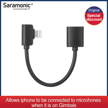 Câble de sortie Saramonic DITC80 Lightning femelle à mâle conçu pour les cardan de Smartphone (8cm)