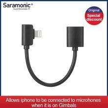 Saramonic DITC80 Lightning Female to Male Output Cable Designed for Smartphone Gimbles (8cm)
