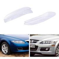 New Car Headlight Glass Cover Clear Automobile Left Right Headlamp Head Light Lens Covers Styling For Mazda 6 2003-2008 TSLM1 2