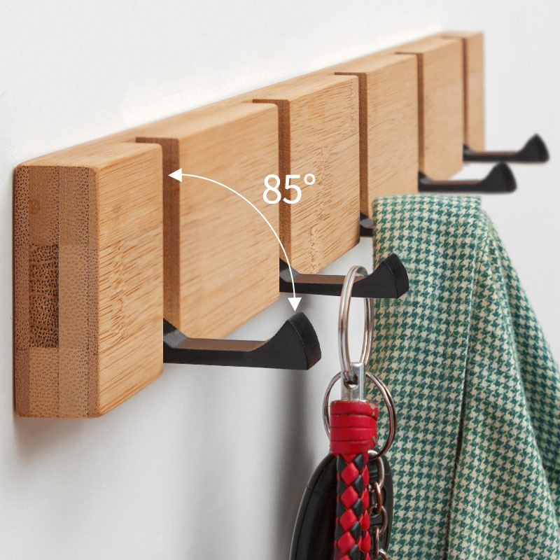 Nordic Home Coatrack Nailless Folding Coat Hook Hallway Bedroom Door Hat Clothes Rack Hanger Kitchen Toilet Wall Brack Hook