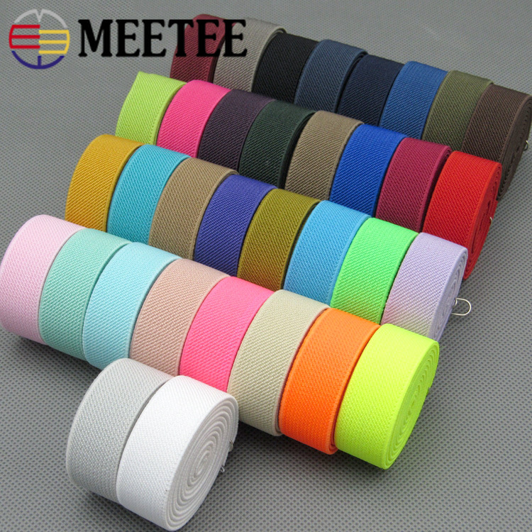 20mm Sewing Elastic Band Soft Skin Rubber Bands Underwear Pants Decorative Elastic Webbing Ribbon Bias Binding Tapes