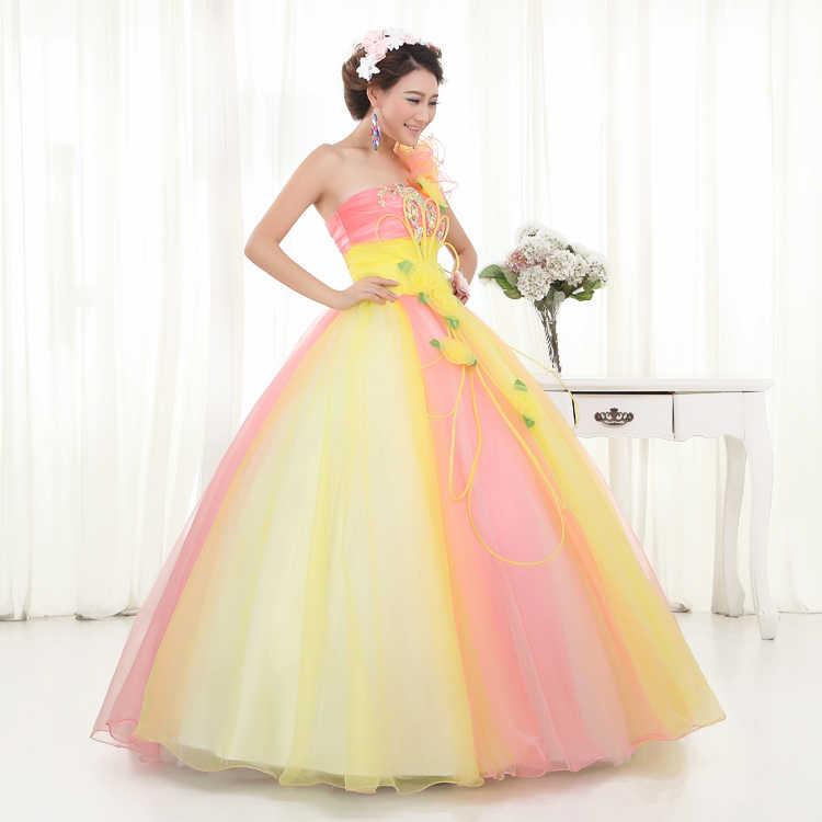 Vestidos Quinceanera 2019 vestido de Lantejoulas Ruffles Debutante Doce 16 Masquerade Meninas Um Ombro vestido de Baile Vestidos De 15 Años