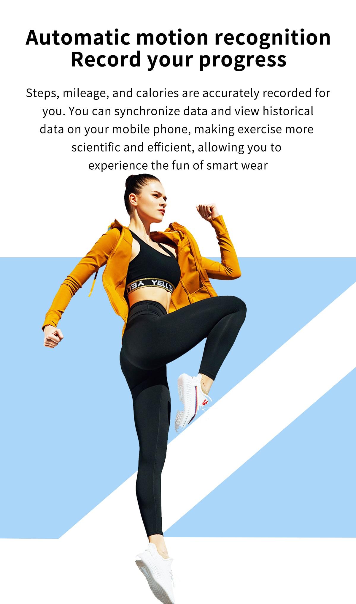 H5cec105af47545e4aacb69d331f623ddp LIGE 2021 Fashion Smart Watch Men Fitness Bracelet Heart Rate Blood Pressure Monitoring Sports Tracker Smartwatch Gift for Women