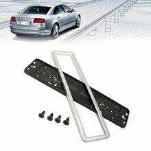 Bracket-Frame-Holder License-Plate Russian-Number Stainless-Steel European German UK