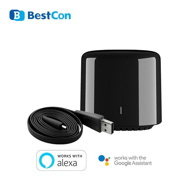 جهاز تحكم عن بعد صغير من Broadlink RM4C لعام 2020 مع جهاز تحكم عن بعد صغير يعمل مع جهاز تحكم عن بعد من الجيل الثالث 3G/4G/Wifi /IR ومساعد أليكسا جوجل للتحكم عن بُعد