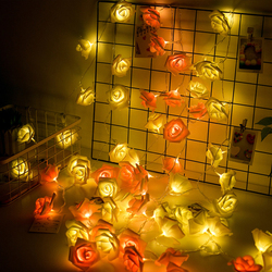 Batterij aangedreven roze Rose LED String Lights luminaria kerst natal guirlande Guirlande Lumineuse Bruiloft Verjaardag Decoratie