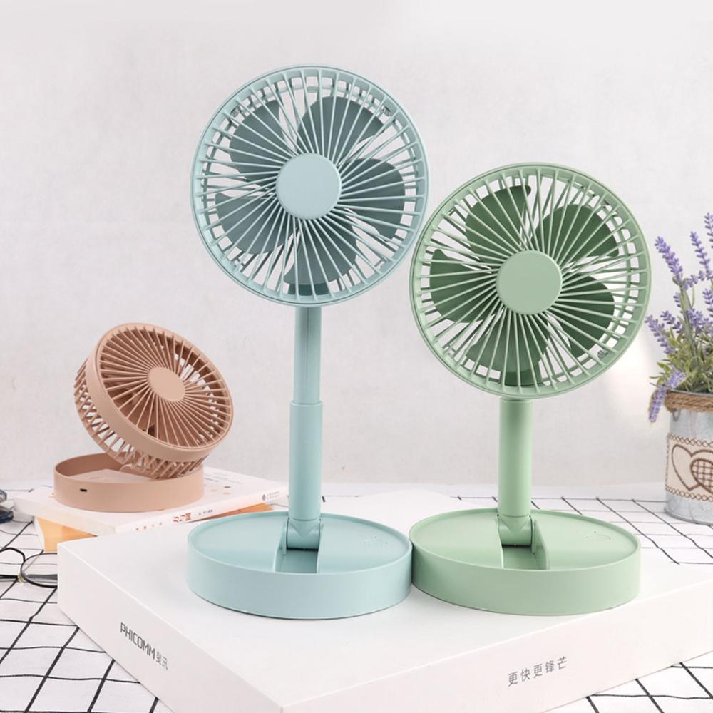 Small Rechargeable Portable Folding Telescopic Fan Household Storage Summer**