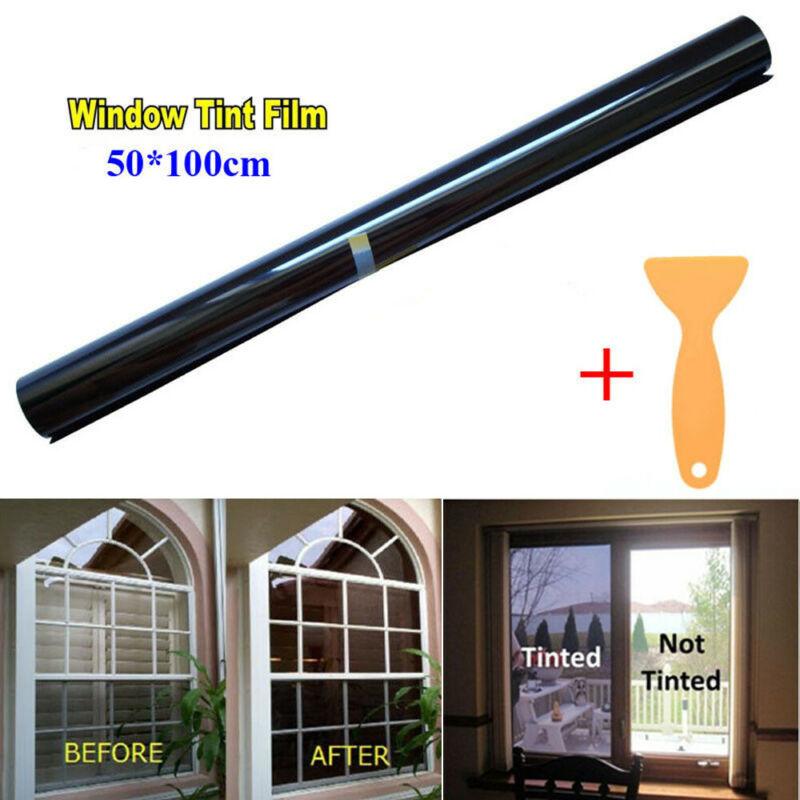 HOT 50cm X 1M Glass Window Tint Shade Film VLT 15cm-50cm Auto Car House Roll Car Sun Shade Window Sunshade Tint Cover Protection