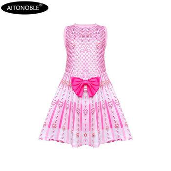 2020 Aitonoble nowa wiosna-lato mała sukienka syrenka dziewczęca sukienka bez rękawów księżniczka sukienka cosplay koszula nocna tanie i dobre opinie Pasuje prawda na wymiar weź swój normalny rozmiar Poliester Elastan ADSS2503