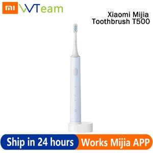 Xiaomi original T500 de Sonic cepillo de dientes eléctrico Mi Batería de larga duración IPX7 Mijia cepillo de dientes de alta frecuencia de vibración magnética