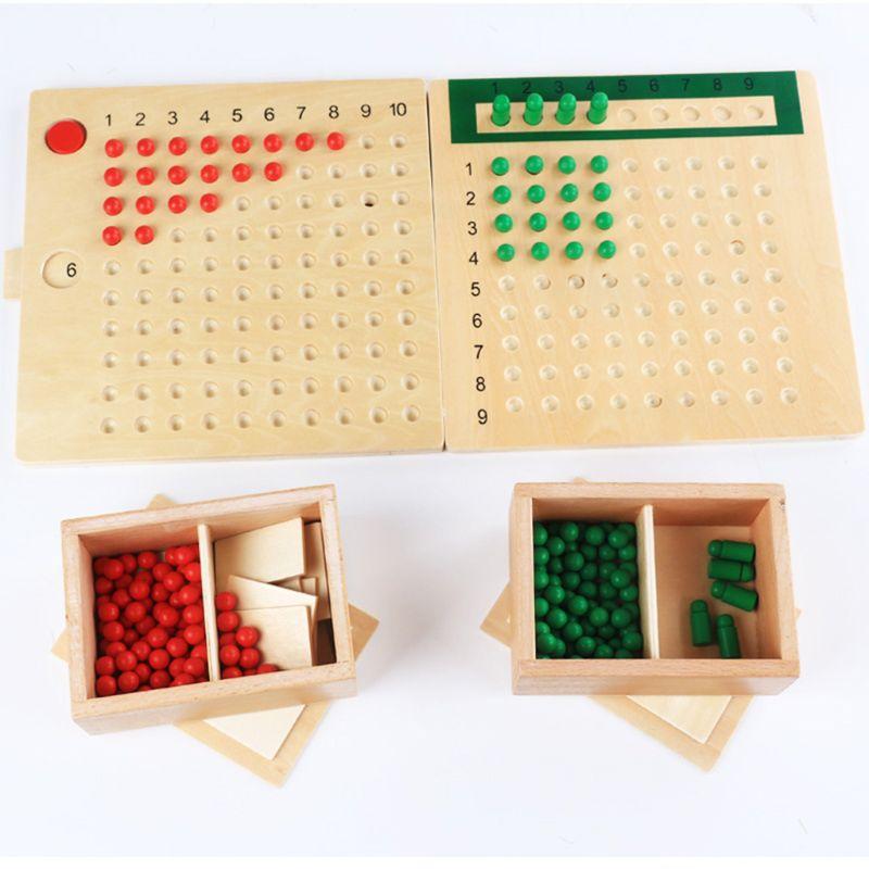 Montessori mathématiques Multiplication Division conseil mathématiques plaque d'enseignement des jouets éducatifs d'apprentissage précoce pour les enfants Y4QA