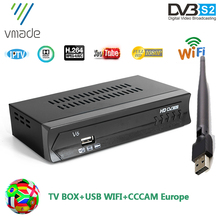 Vmade 2020 DVB S2 satellite TV receiver with USB WIFI 1 Year
