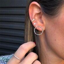 Star Earrings Stud Circle Ear-Cuff Crystal Women Jewelry Brincos Boho Multicolored Modyle