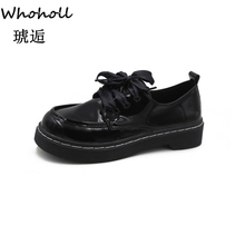 Classic Retro Patent Leather Shoes Students Wild Harajuku College Wind Casual 2019 Korean Flat Single Women 39