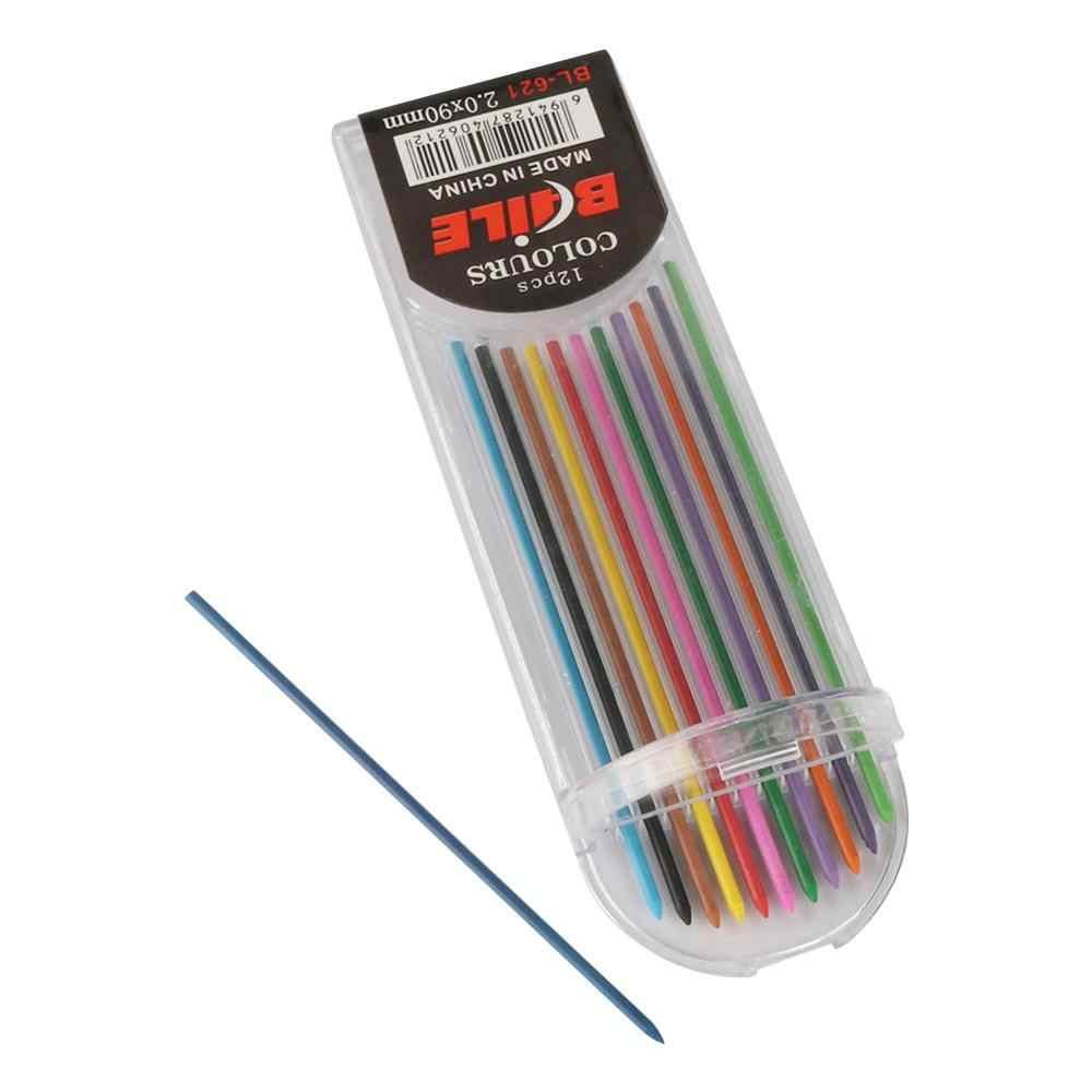 Schreiben Punkt 2,0mm Automatische Bleistift Zeichnung Design Malerei Mechanische Bleistift Schwarz/Bunte Minen Schule Büro Schreibwaren