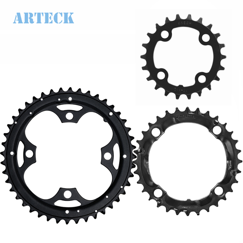 Bike Replacement Chainring 22T 32T 44T Carbon Steel Bike Crankset Chain Ring MTB Road Bike Chainwheel for 7-8-9 Speed Shimano