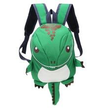 Новинка; Детские рюкзаки с 3D динозавром; Водонепроницаемая Детская сумка; Маленькая детская сумка; милые дорожные сумки с принтом животных; подарки для мальчиков и девочек