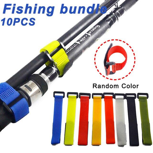 10 Pcs Fishing Rod Tie Holder Strap Fastener Reusable Adjustable Accessories YS-BUY