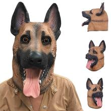 Halloween Dog Latex Animal Head Toy Cosplay Fancy Dress Party Props Horror Mask New Masquerade Costume Theater egyptian anubis cosplay face mask pvc canis spp wolf head animal masquerade props party halloween fancy dress ball