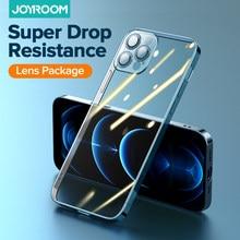Joyroom Ultra Thine kılıfı iPhone 12 Pro Max darbeye dayanıklı tam kamera Lens temizle kapak şeffaf arka kapak iPhone 12 Mini