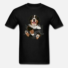 Men T Shirt Dog In Your Pocket Bernese Mountain Dog(1) Women T-Shirt(China)