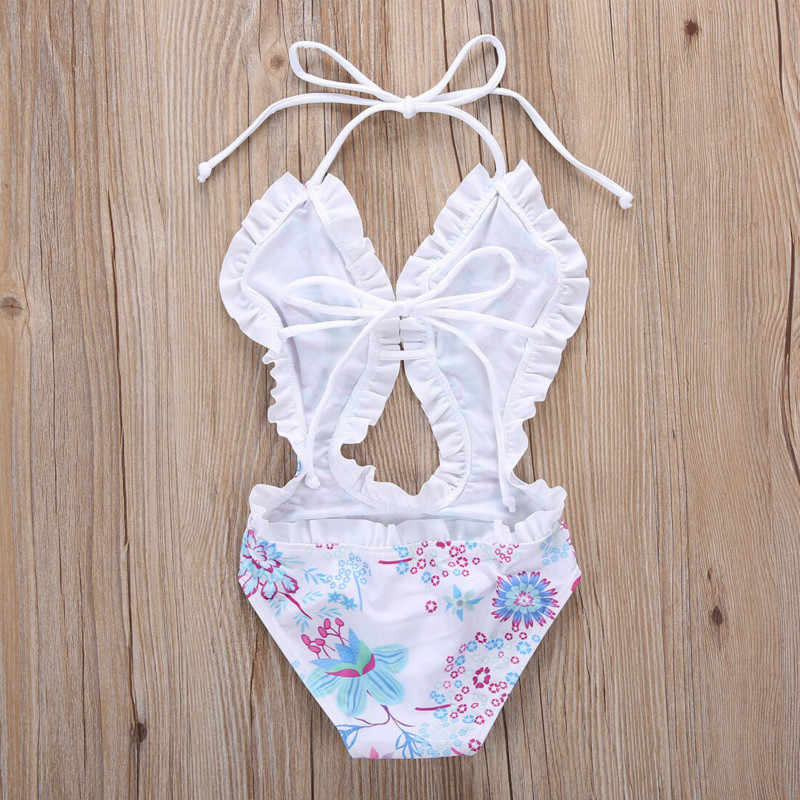 1-6Yrs Bunga Tankini Anak-anak Split Baju Renang Anak Baju Renang Kostum Bayi Pakaian Musim Panas Gadis Pakaian Renang