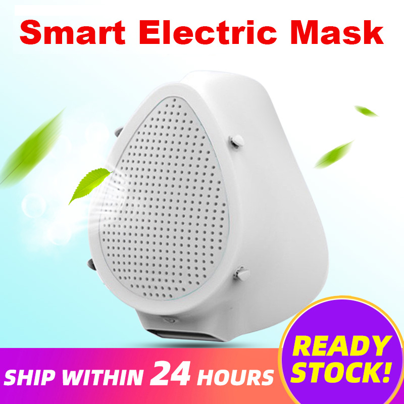 Electric Filter Masks Air Purification Respirator Adult Kids Masks Recyclable Filtration Protective Masks Reusable Dust Masks
