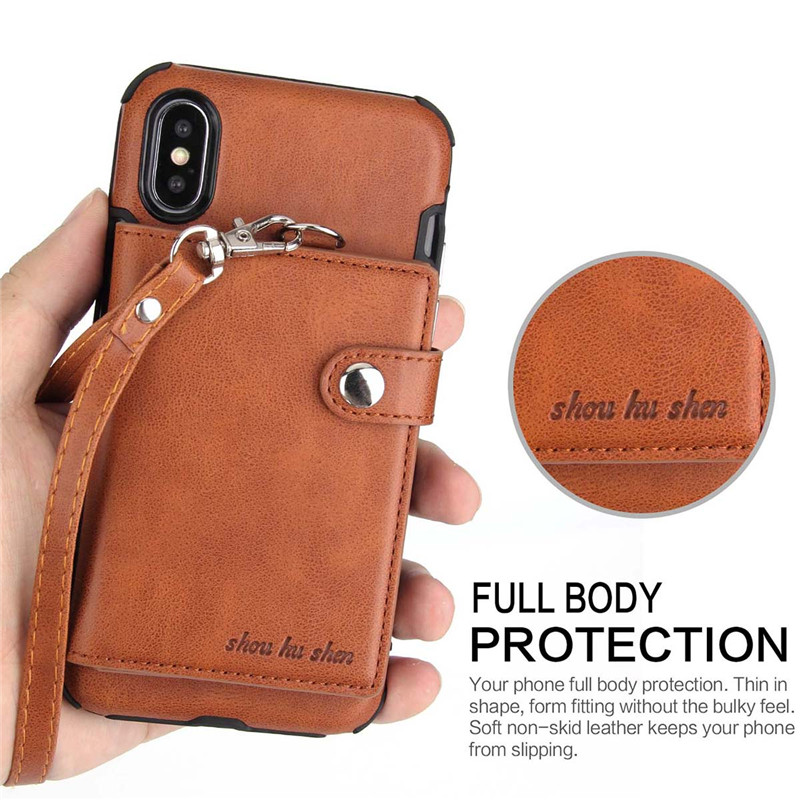 H5cedc4bec2834f7ba3a6fe024d35a5e1E Tikitaka Wallet Leather Phone Case For iPhone 6 6s Plus X XS XR Multifunction Card Slots Flip Cover For iPhone XS MAX 8 8 Plus