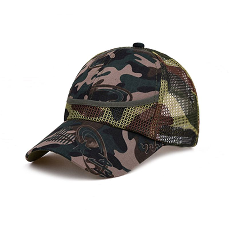 3-12Yrs outdoor Camouflage Baby Boy Mesh Baseball Cap Kids Cap Summer Autumn For Boy Girl Caps Net Casual Cap Kid Hat HipHop Hat(China)