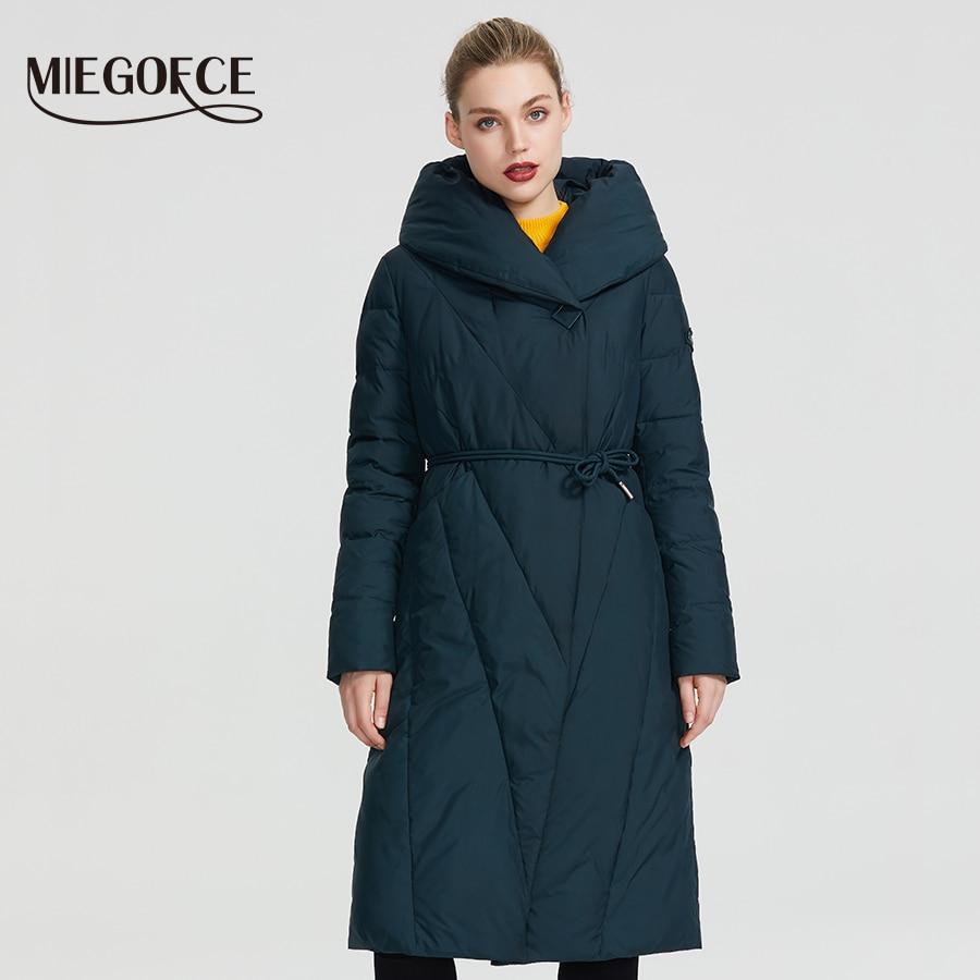 MIEGOFCE 2019 hiver Long modèle veste femme manteau chaud mode femmes Parkas de haute qualité Bio-Down femmes manteau tout nouveau Design