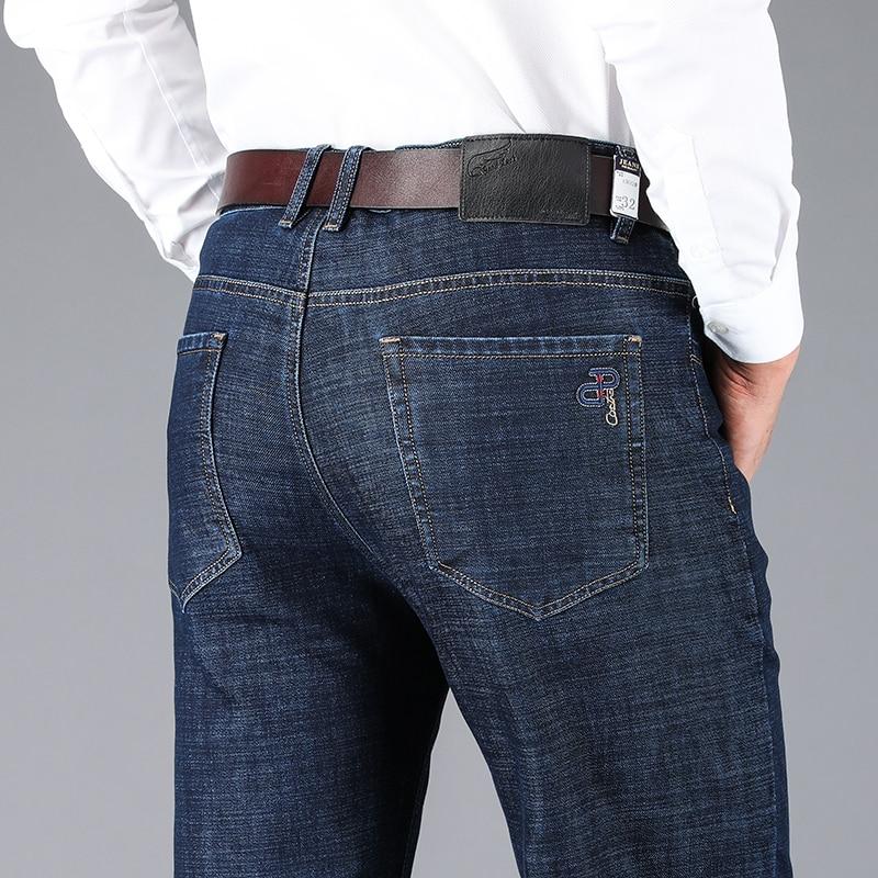 Male Jeans Men Men'S Jean Homme Denim Slim Fit Pants Trousers Straight Blue Biker Spijkerbroeken Heren High Quality Soft Fashion